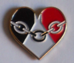 Black Country County Heart Flag Enamel Pin Badge